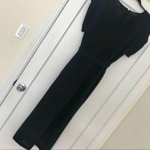 ASOS Dresses - ASOS Monki Tie Waist Wide Leg Black Jumpsuit